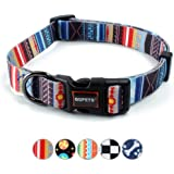 QQPETS Dog Collar Personalized Comfortable Adjustable Collars Large Big Dogs Walking Running Training (L, Splicing)