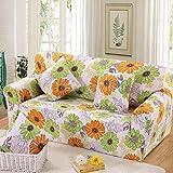 スパンデックスのソファのクッションカバー 3 席の長椅子ソファ Slipcover Decor-Sunflower