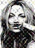 ルイ・ヴィトン Kate Moss ルイヴィトン Louis Vuitton ポップアートポスター オマージュアート#td70 STAR DESIGN A1サイズ(594×841mm)
