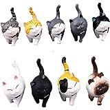動物フィギュア 猫 9個 模型 子猫おもちゃセット ミニおもちゃ モデル 誕生日 パーティープレ ゼント