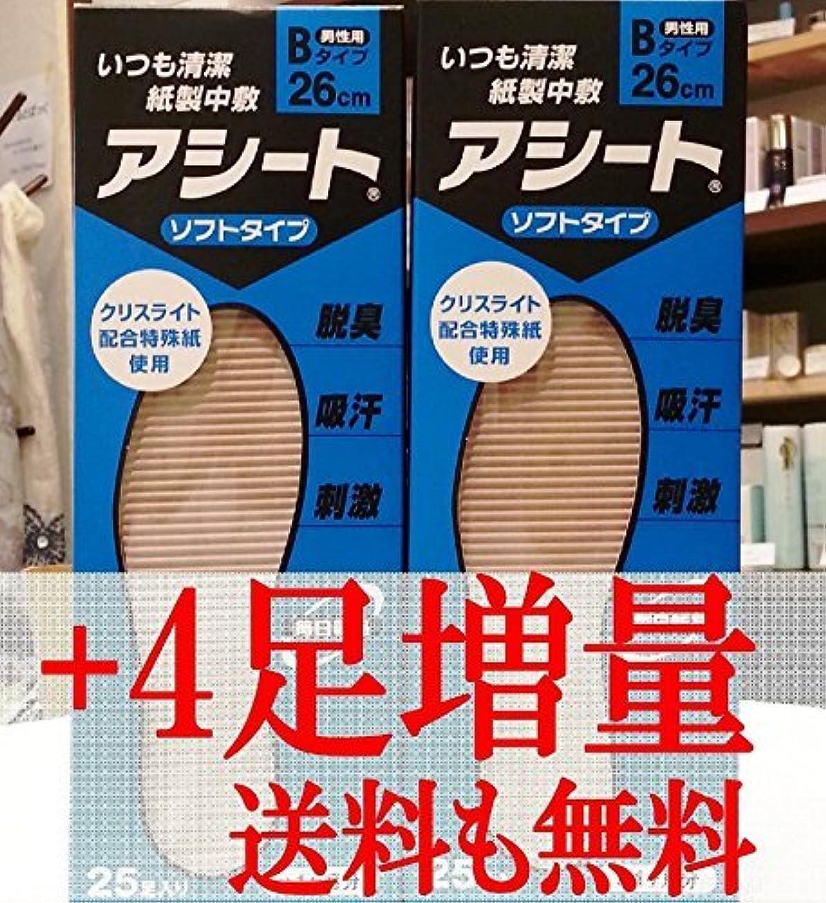 アルファベット失業教アシートB 25足入2箱セット+4足増量中(26cm)