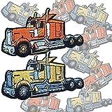 10枚セット トラック アメ車  アイロンワッペン パッチ ≪ 男児 乗り物 入園準備 [並行輸入品]