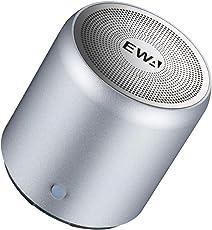 EWA A107 ワイヤレス Bluetoothコンパクトスピーカー【TWS ワイヤレスステレオペアリング/コンパクト設計】(シルバー)