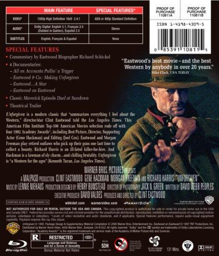 Unforgiven [Blu-ray] [Import]
