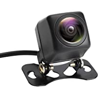 POMILE バックカメラ フロントカメラ 夜でも見える 最新超暗視機能 超高画質 100万画素 魚眼レンズ 広角170° IP68防水 防震 防塵 ハイビジョン HVDチップ CCDセンサー 12V 車汎用 リアカメラ RCA出力端子 ブラック 日本語マニュアル付き (黑, XS)