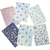 EXCEART All Occasion Assorted Floral Blank Note Cards Greeting Card Envelopes Set Stationery Envelopes for Personalized Greet
