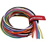 BNTECHGO 18 Gauge Silicone Wire Kit Ultra Flexible 10 Color High Resistant 200 deg C 600V Silicone Rubber Insulation 18 AWG S