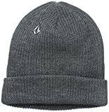 [ボルコム] [ユニセックス] 定番 ニットキャップ (リブ編み) [ D5831510 / Full Stone Beanie ] 帽子 おしゃれ CHH_グレー US O/S (FREE サイズ)