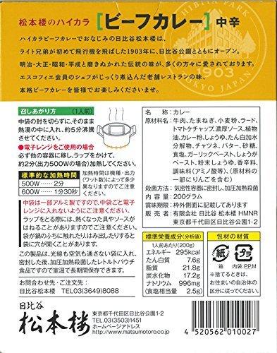 日比谷松本楼 ハイカラビーフカレー 東京ご当地カレー 10個セット