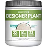 Designer Protein Plant Vegan Meal Replacement Protein Powder, Madagascar Vanilla, 21.12 Ounce