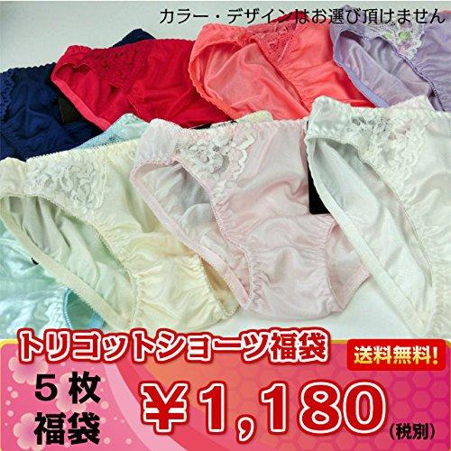 【福袋】美しいレースがポイント☆トリコットショーツ5点¥1,...
