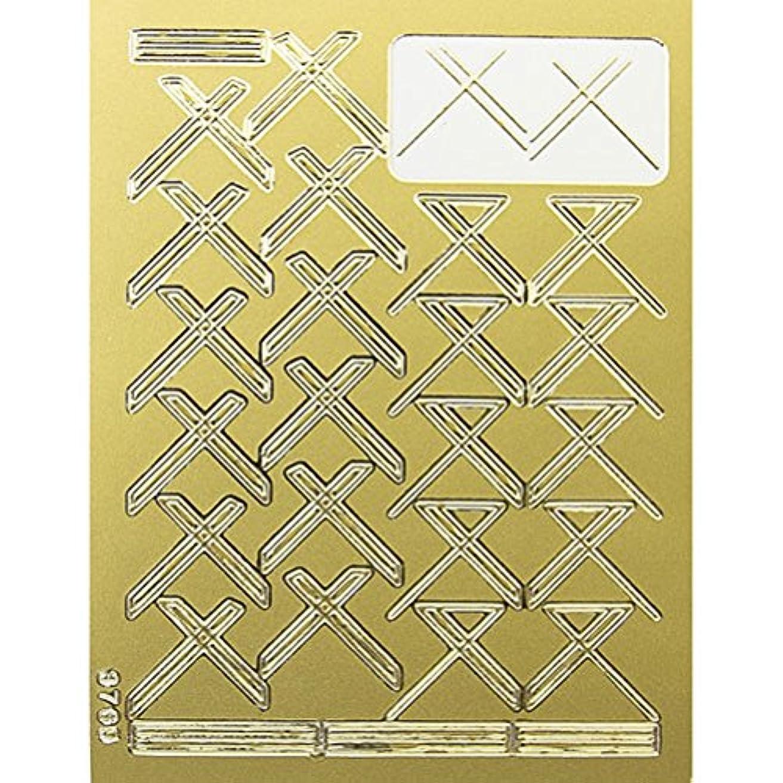 緊張文言固体ネイルエンボスシール ゴールドクロス 590-1001