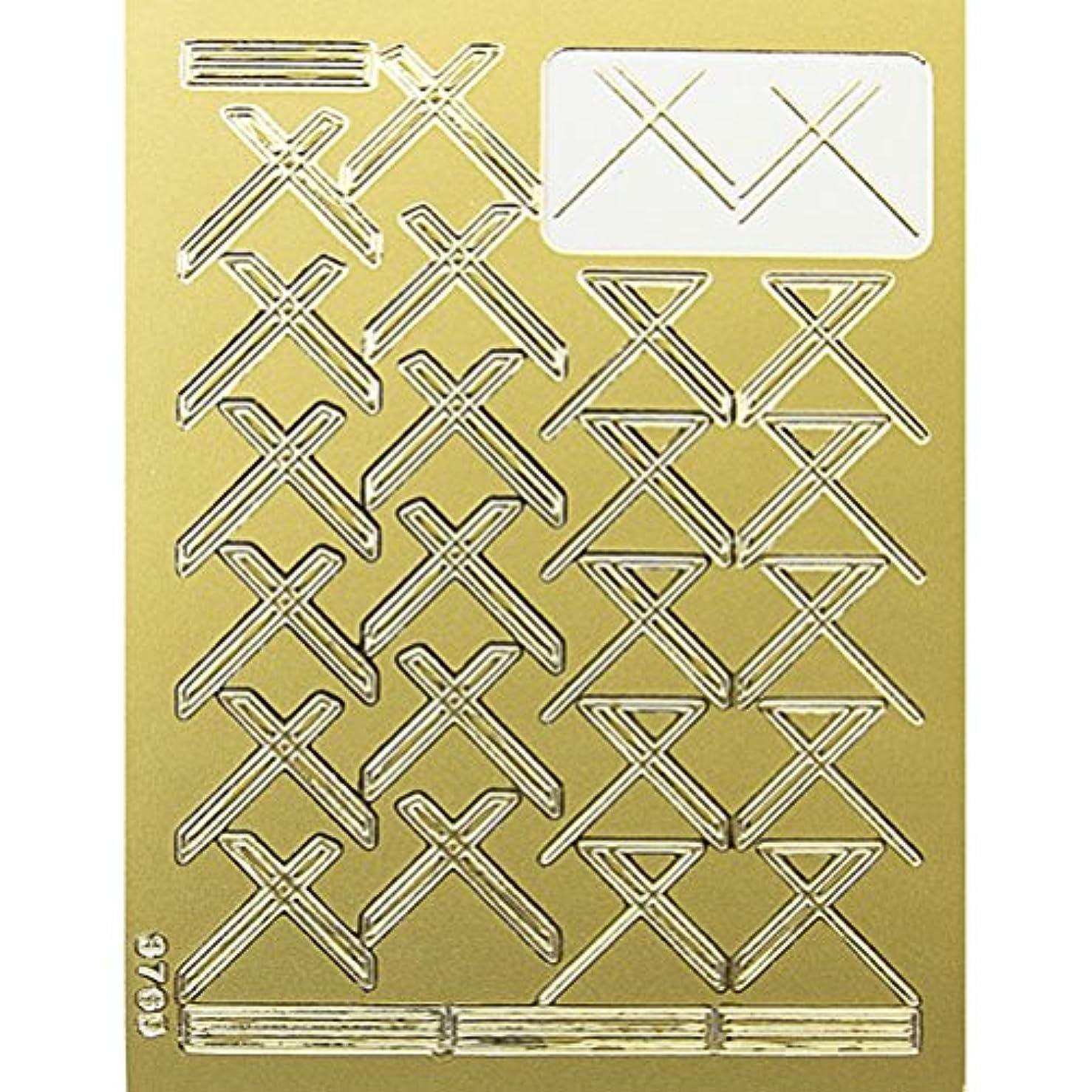 振動させる決定する耐えられるネイルエンボスシール ゴールドクロス 590-1001
