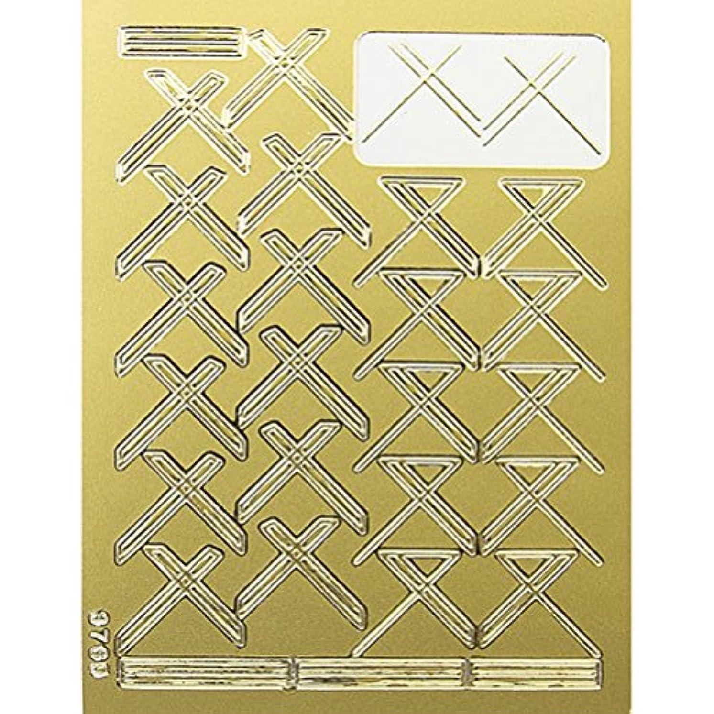 現像無効にするアラバマネイルエンボスシール ゴールドクロス 590-1001