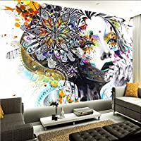 Wxmca カスタム3D壁画壁紙抽象カラーアートフィギュア写真壁壁画Ktvバーギャラリーテーマホテル背景壁-400X280Cm