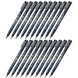 Tombow Fudenosuke Brush Pen (GCD-111), Hard Tip, Blue Body, Value Set of 20