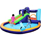 AirMyFun Inflatable Bounce House, Water Spray for Summer Time, Inflatable Bouncer with Air Blower, Jumping Castle with Water
