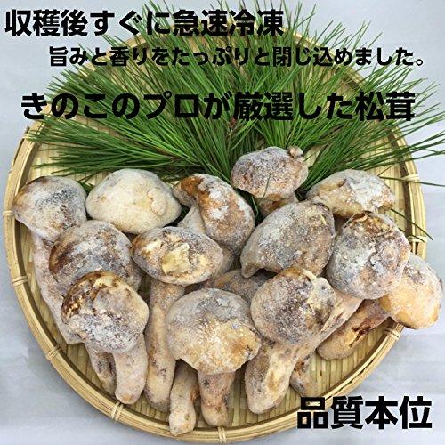 サイズおまかせ料亭松茸 お手軽250g(急速生冷凍品)