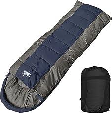 WhiteSeek 寝袋 シュラフ 封筒型 コンパクト収納 抗菌仕様タイプ B【最低使用温度-15℃ 1800g】