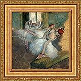 (v02–05–06) Edgar degas_バレエ_ダンサー_フレーム_キャンバス_ Giclee_プリント_ w22_ X h22 >[Small] #11-Gold V02-05K-MD535-01