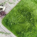 ラグ マット エクセレント ムーティー Ⅱ ネイチャー サイズ 約 130×190 cm ユーカリ グリーン 滑り止め 付き マイクロファイバー シャギー 折りたたみ 丸 洗い 可能 ホットカーペット カバー 対応