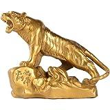 Chinese Fengshui Handmade Brass Lucky Tiger Statues Attract Wealth Desktop Figurine Home Decor Housewarming Congratulatory Gi