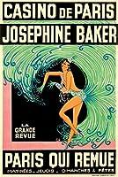 Casino de Paris–Josephine Baker–Paris Qui Remueポスター(アーティスト: Zig Louis Gaudin )フランスC。1930 24 x 36 Giclee Print LANT-65940-24x36