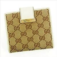 グッチ Gucci Wホック財布 レディース GGキャンバス 中古 Y5272