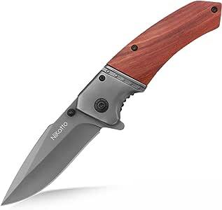Nikatto ナイフ フォールディングナイフ 折りたたみナイフ アウトドア 登山 キャンプ 家庭 切れ味良い