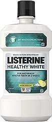 Listerine Mouthwash Healthy White, 1000ml