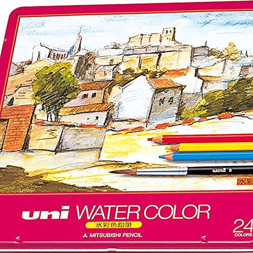 三菱鉛筆 ユニウォーターカラー水彩色鉛筆 24色セット