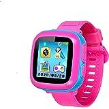 スマートウォッチ キッズ 腕時計 多機能 プレイウォッチ腕時計 おもちゃ タッチスクリー 誕生日/卒業祝い/クリスマスのプレセント(ピンク2)