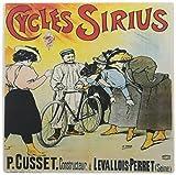 3drose 8x 8x 0.25インチマウスパッド、Cycles Siriusフランス自転車広告ポスター( MP _ 153202_ 1)