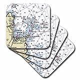 フローレン–航海マップ飾り–メイン州の印刷Rockport Nautical Chart–コースター set-of-8-Soft 3dRose LLC cst_204893_2