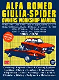 Alfa Romeo Spider Owners Work Manual (English Edition)