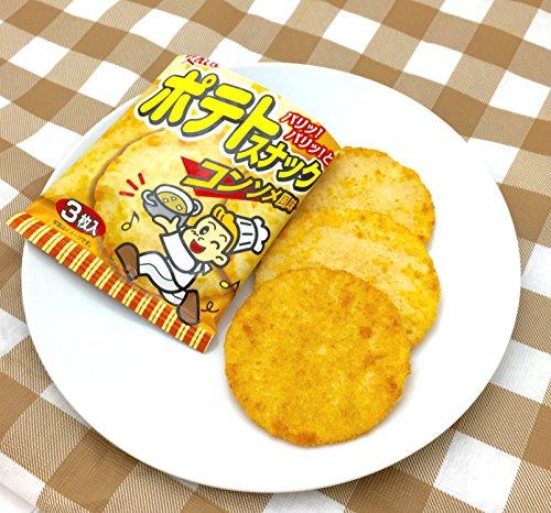 『かとう製菓 ポテトスナックコンソメ風味 3枚入×30袋』の3枚目の画像