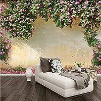 Wxmca カスタム壁画壁紙3Dローズ牧歌的な壁絵画リビングルームの寝室のテーマホテルの背景壁の装飾ロマンチックな3D壁紙-150X120Cm