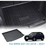 Vesul Rear Trunk Cargo Cover Boot Liner Tray Carpet Floor Mat Compatible with BMW G01 X3 2018 2019
