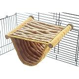 Double Bunkbed Hammock Sleep Bed Cage Play Platform with Warm Fleece for Hamster Mice