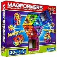 マグフォーマー 30ピース レインボーセット MAGFORMERS マグネットブロック 創造力を育てる知育玩具 【30ピース】 [並行輸入品]
