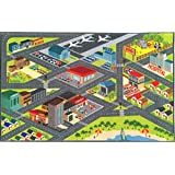 [Kev & Cooper]Kev & Cooper Playtime Collection Road Map Educational Area Rug 5'0 x 6'6 KCP010002-5x7 [並行輸入品]
