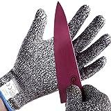 防刃手袋 耐切創手袋 軍手 作業 手袋 作業用手袋 切れない手袋 (Medium)