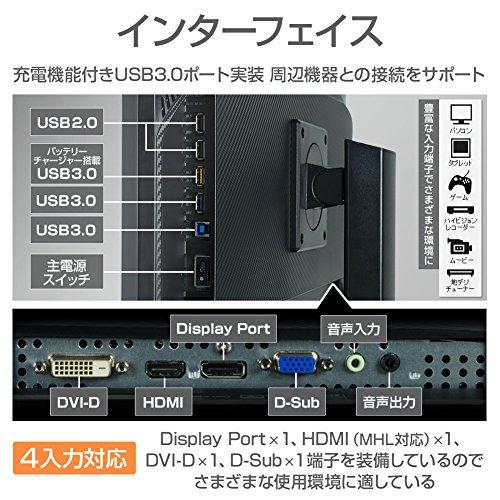 『iiyama 4K モニター ディスプレイ B2875UHSU-B1 (28インチ/1ms/TN非光沢/DisplayPort,HDMI,D-sub,DVI-D/昇降/3年保証)』の3枚目の画像