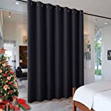 RYB HOME Blackout Thermal Insulated Blind Curtains, Noise Reduce Barrier for Nursery, Portable Curtain for Sliding Glass Door
