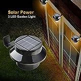 Uniquefire ブラック 自動点灯 防雨仕様 面倒な配線は一切不要 ソーラーLEDライト 玄関灯 門灯