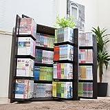 コミック収納 マンガ収納 漫画収納 DVD 収納 CD コミック ラック 書棚 大容量 ダークブラウン JS70DBR