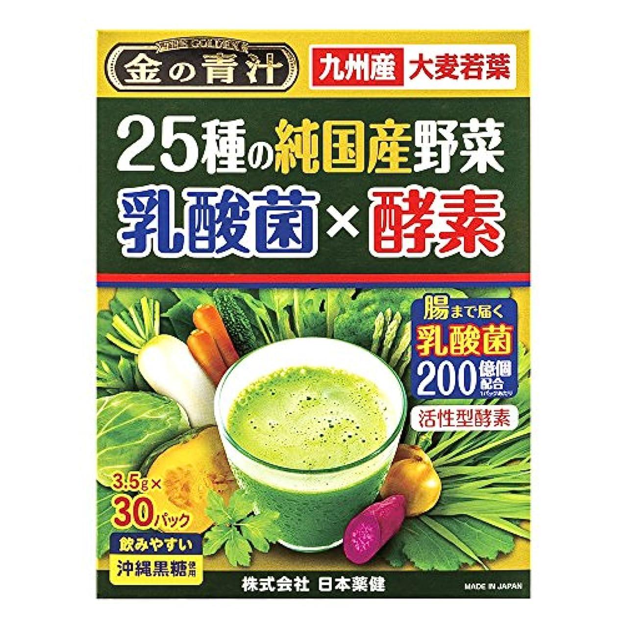 一口眠り家日本薬健 25種の純国産野菜 乳酸菌×酵素 30包