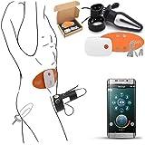 感電キット APPリモコン 拷問セックス電気刺激 肛門栓/ディルドとペニスリング/コックリング付き SMエロ大人のおもちゃ カップル向けAndroid/iOS向け USB充電,M