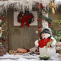 Yeele 4x4フィート クリスマス 背景幕 冬 雪だるま 写真撮影用 メリークリスマス ハッピーニューイヤー パーティー デコレーション バナー 子供 大人 写真ブース ビデオ 撮影 ビニール スタジオ小道具
