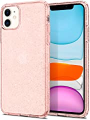 Spigen Liquid Crystal Glitter Designed for Designed for iPhone 11 Case Cover (2019) - Rose Quartz